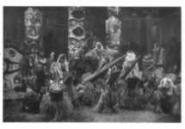 254 Masked Dancers Qagyuhl Northwest Coast