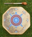 40 cm Blessing Turtle Drum - Indianische Rahmentrommel