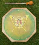 Handbemalte Butterfly Fairy Trommel - Feen-Trommel 40 cm
