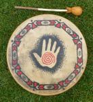 40 cm Handprint Drum - Indianische Rahmentrommel