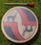 40 cm Keeper Drum - Hüter der Erde Indianische Rahmentrommel