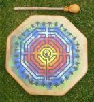 40 cm Millennium Labyrinth Drum - Indianische Rahmentrommel
