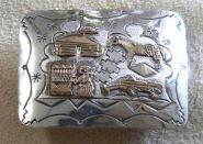 Gürtelschnalle - Navajo Geschichte in Gold & Silber