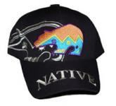 Bestickte Native Baseball Cap - Bär