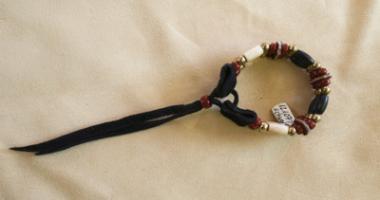 PINTO Choker Armband 3-reihig dunkelrot