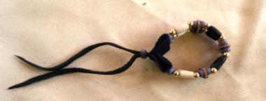 PINTO Choker Armband 3-reihig violett