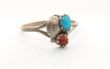 Navajo Ring Türkis/Koralle