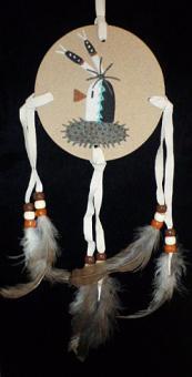 Sandpainting Schild - Maske Kachina