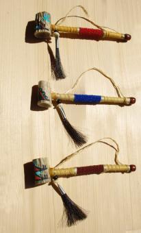 Navajo Antler Pipe Beadwork - Navajo Pfeife mit Perlen