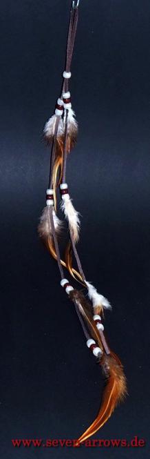 Federschmuck - Pueblo Indianer dunkelbraun