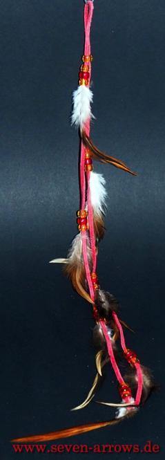 Federschmuck - Pueblo Indianer rot