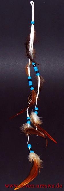 Federschmuck - Pueblo Indianer naturweiß