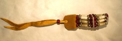 Choker Armband 3-reihig dunkelrot