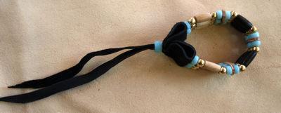 PINTO Choker Armband 3-reihig türkis