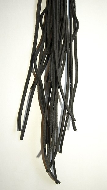 Lederschnur schwarz, Länge 1,50 m