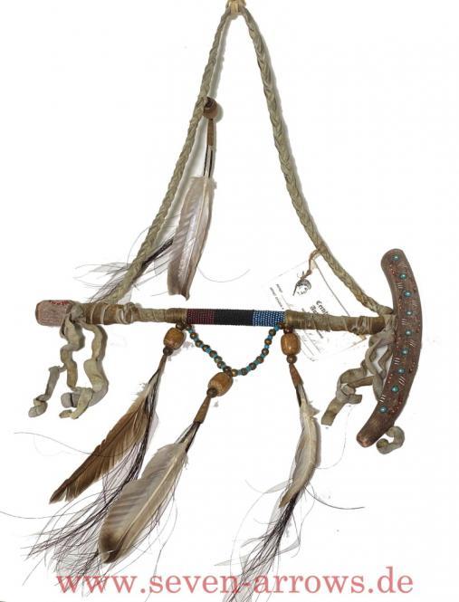 Navajo Antler Pipe - Navajo Friedenspfeife Hirschhorn