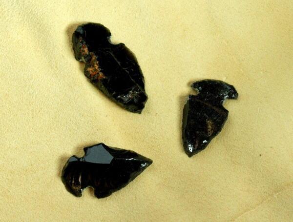 Stein Pfeilspitze Obsidian