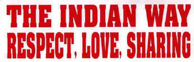 Aufkleber - The Indian Way...