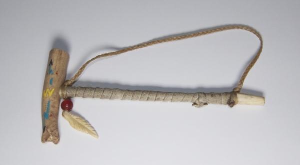 Navajo Antler Pipe - Navajo Pfeife mit Feder
